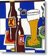Chichis Y Cervesas Metal Print by Rojax Art
