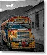 Chicken Bus - Antigua Guatemala Metal Print