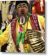 Pow Wow Chicken Dancer Metal Print