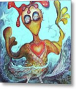Chicken Dreaming Metal Print