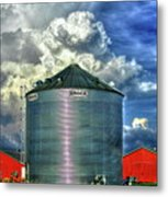 Chicken Feed Other Worldly Sky Art Metal Print