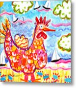 Chicken Of The Sea Metal Print