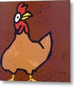 chicken Scratch Metal Print