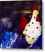 Chickens In The Kitchen Metal Print