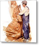 Chief Mungo Martin Totem Carver Metal Print