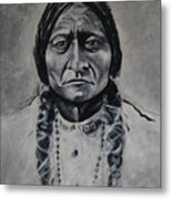 Chief Sitting Bull Metal Print