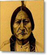 Chief Sitting Bull  Tatanka Iyotake Metal Print