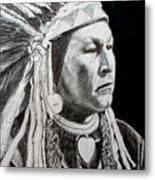 Chief Yellow Wolf Metal Print