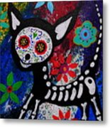 Chihuahua Day Of The Dead Metal Print