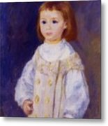 Child In A White Dress Lucie Berard 1883 Metal Print
