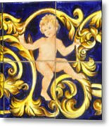 Child In Blue And Gold Metal Print
