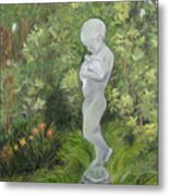 Child Of Peace As In Brookgreen Gardens Metal Print by Shirley Lawing