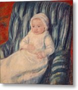 Child On A Sofa Metal Print