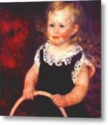 Child With A Hoop Metal Print