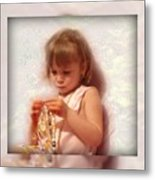 Child With Jewelry Metal Print