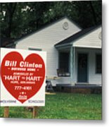 Childhood Home Of Bill Clinton Metal Print