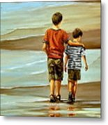 Childhood Shore Metal Print