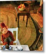 Children - Toys - The Tea Party Metal Print by Mike Savad