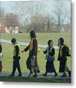 Children Crossing Metal Print