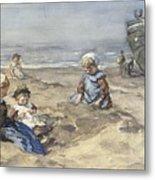 Children On The Beach Metal Print