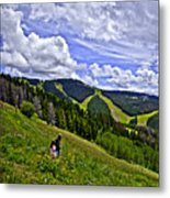 Children On Vail Mountain Metal Print