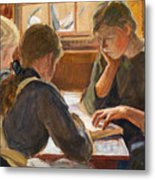 Children Reading Metal Print