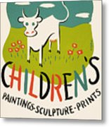 Children's Paintings-sculpture-prints Metal Print