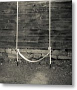 Child's Swing On An Old Farm Metal Print