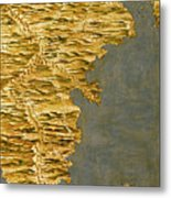 Chile And Argentina With The Strait Of Magellan Metal Print