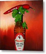 Chili Pepper, Coriander And Peri-peri By Kaye Menner Metal Print