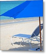 Chilling On The Beach Anguilla Caribbean Metal Print