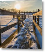 Chilling On The Dock Metal Print