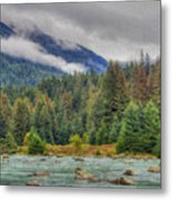 Chillkoot River Hdr Paint Metal Print