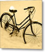 Chilly Ride Metal Print