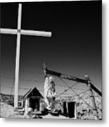 Chimayo Descanso Metal Print
