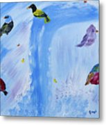 Chimes Of A Waterfall Dream Metal Print