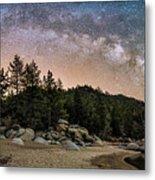 Chimney Beach With Milky Way Metal Print