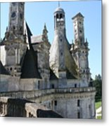 Chimney From Chambord - Loire Metal Print