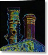 Chimney Pots. Metal Print