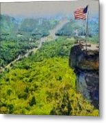 Chimney Rock Nc Metal Print