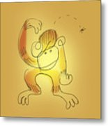 Chimp And Bug Metal Print