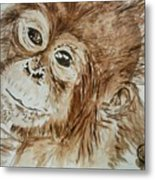 Chimp Metal Print