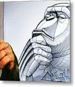 Chimps Don't Draw Metal Print