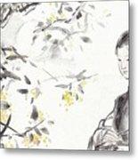 China Ancient Female Metal Print
