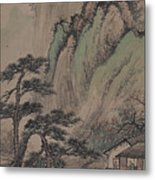 China Ancient Landscape Metal Print