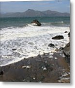China Beach With Outgoing Wave Metal Print