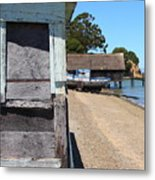 China Camp In Marin Ca - Vertical Metal Print by Wingsdomain Art and Photography