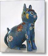 China Cat Metal Print