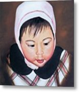 China Doll Metal Print