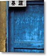 China Door Metal Print